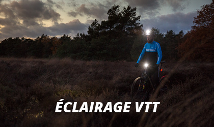 Éclairage VTT