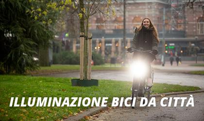 Illuminazione bici da città