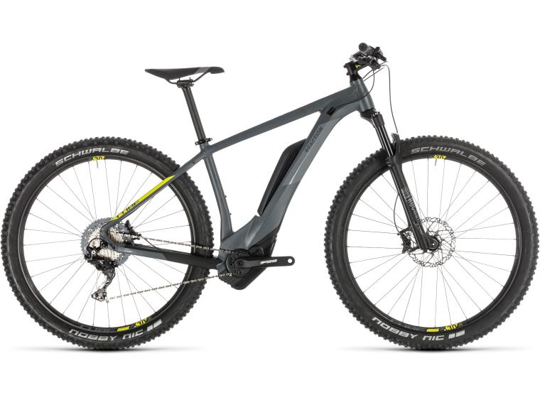 Cube Reaction Hybrid Race 500 Elektrische mountainbike grey´n´lime