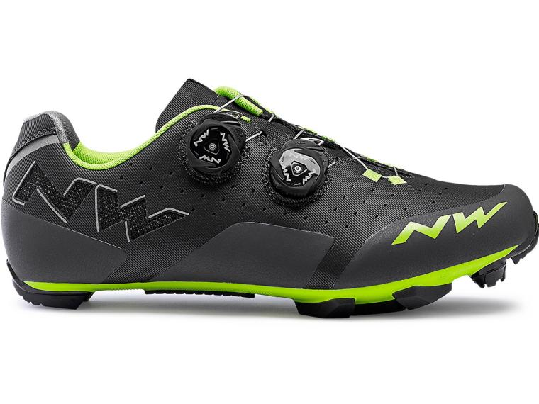 Northwave Rebel MTB Schoenen Anthracide / Acid Green