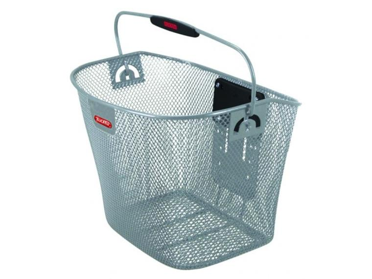 Klickfix City Bike Basket Grey