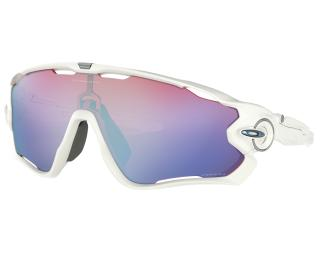 Oakley Jawbreaker Prizm Sapphire Snow Cycling Glasses White