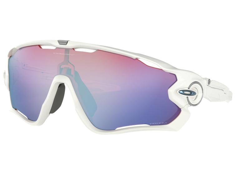 Oakley Jawbreaker Prizm Sapphire Snow Cycling Glasses Polished White