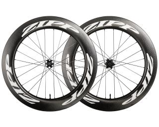 Zipp 808 Firecrest Carbon Clincher Tubeless Disc Road Bike Wheels Wheelset / White