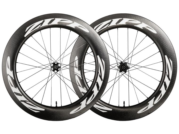 Zipp 808 Firecrest Carbon Clincher Tubeless Disc Road Bike Wheels Set / White