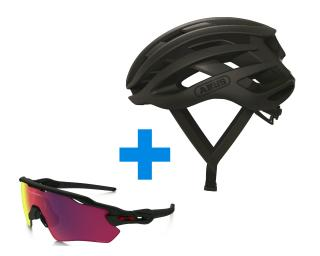 Abus AirBreaker + <b>Oakley</b> Radar EV Prizm Road Combo Deal Black