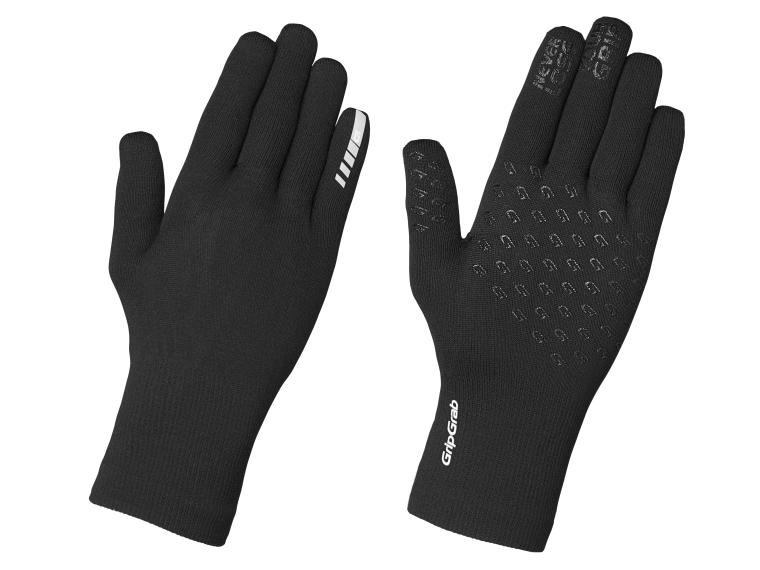 Gants GripGrab Waterproof Knitted Thermal Noir