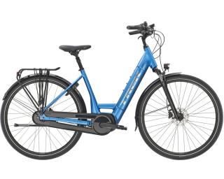 Trek District+ 6 Elektrische Fiets Dames / Blauw