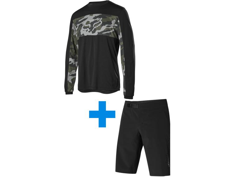 Fox Racing Ranger Foxhead + Flexair Lite set MTB Broek Zwart