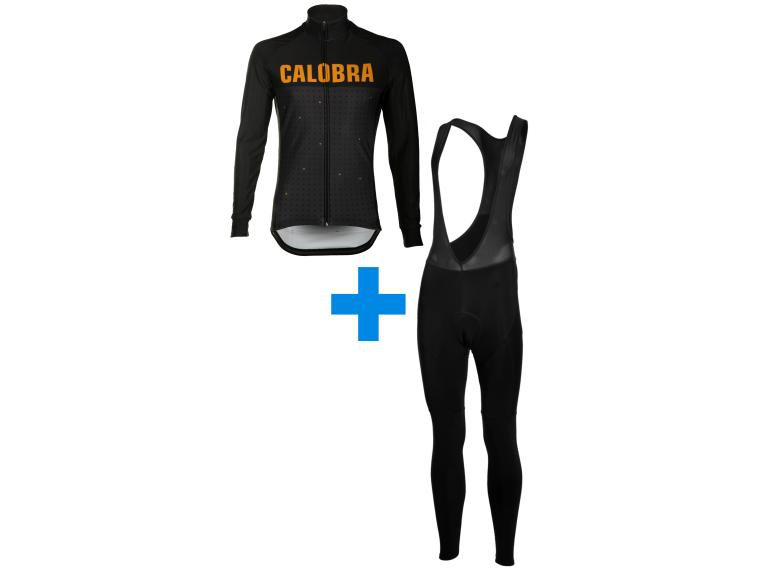 Calobra Gold Rush + Eclipse set Fietsbroek