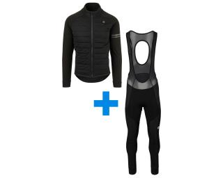AGU Deep Winter Heated + Essential Prime Set Bib Tights