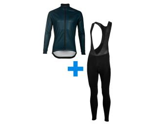 Calobra Navy Powder + Eclipse Set Bib Tights