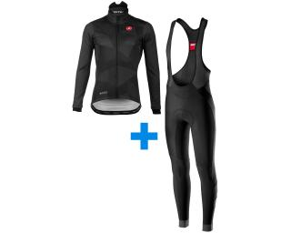 Castelli Winter WS Mantel Limited + Velocissimo 4 set Schwarz