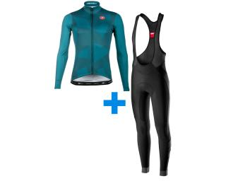 Castelli Thermal LS Mantel Limited + Velocissimo 4 set Schwarz