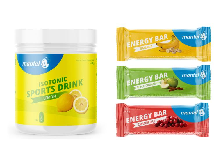 Mantel Isotonic Sports Drink + Energy Bars