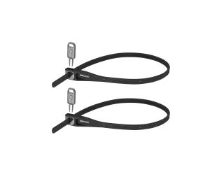 Hiplok Z Lok Twin Pack Cable Lock Black