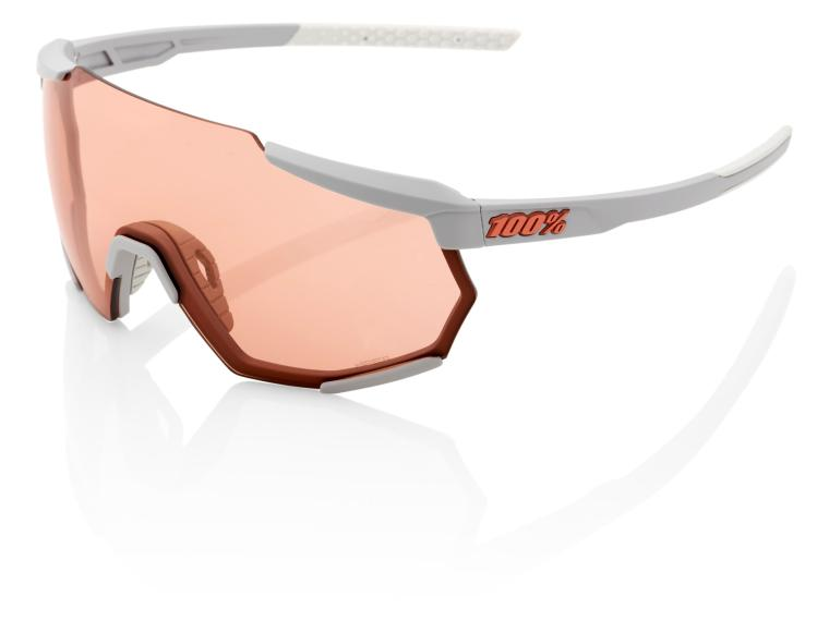 100% Racetrap HiPER Cycling Glasses Soft Tact Stone Grey