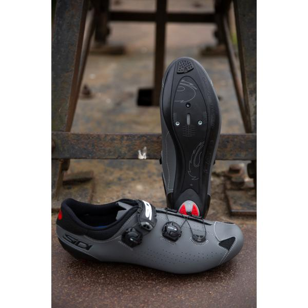 Grey Sidi Genius 10 Bicycle Cycle Bike Road Shoes Black