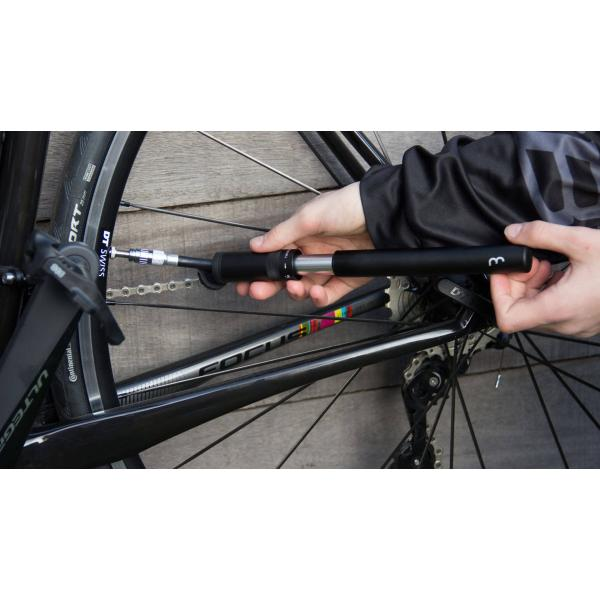 BBB Cycling BMP-49 EasyRoad Mini Pump for Bike Tires with Presta Schrader and Dunlop Valves