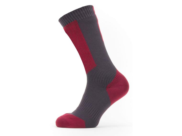 Calcetines Sealskinz Cold Weather Mid Hydrostop Rojo