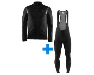 Craft Hale Subzero JKT + Thermal Fietsbroek Zwart