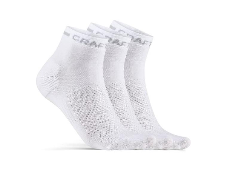 Calcetines Craft Core Dry Mid 3-pack Blanco