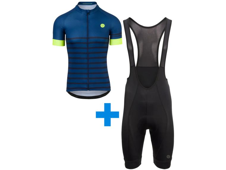 AGU Melange + AGU Essential II set Bib Short Blue