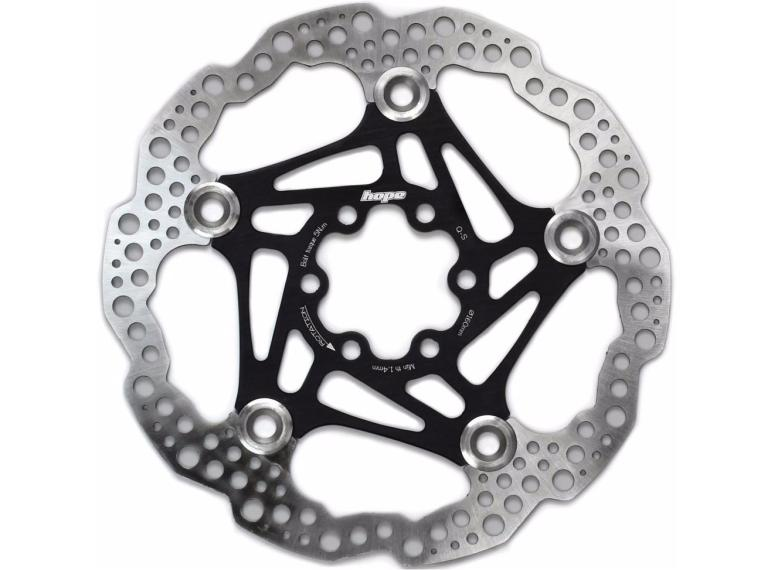 Hope Floating Disc Disc Brake Rotor Black / 160 mm