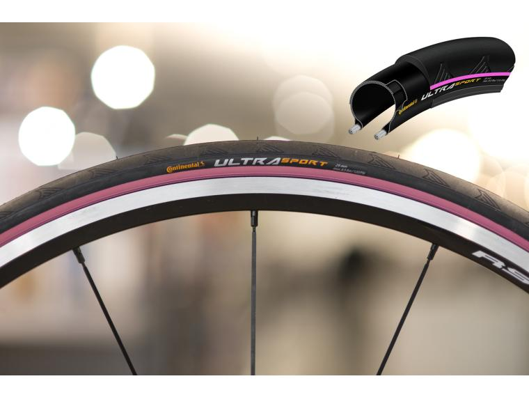 Continental Ultra Sport II Road Bike Tyre Pink