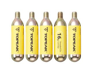 Topeak Co2 Cartridge 16 grams 5 pieces