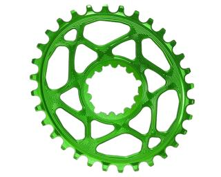 AbsoluteBLACK Spiderless Oval Chainring Green